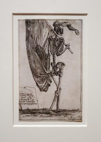 Filippo Napoletano, Figure of death carrying a banner in triumph (1620-1621)