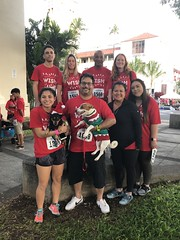 Hawaiian Electric at the Make-A-Wish Hawaii Jingle Rock Run - December 17, 2017: Employees pose for a picture