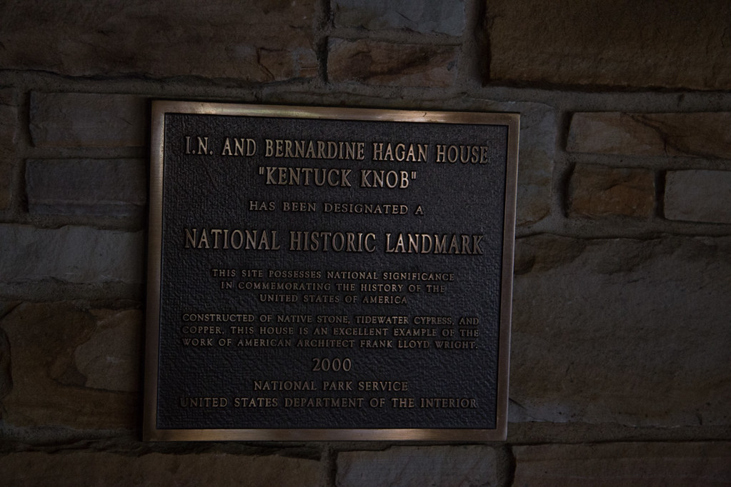 Historical Marker sign at Kentuck Knob