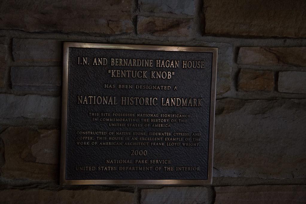Historical Marker sign at Kentuck Knob