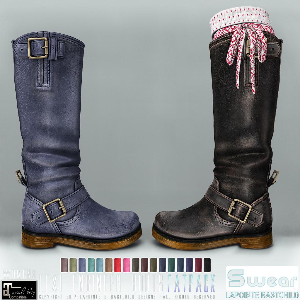 L&B Swear Lexi Engineer Boots @ UBER:DEC