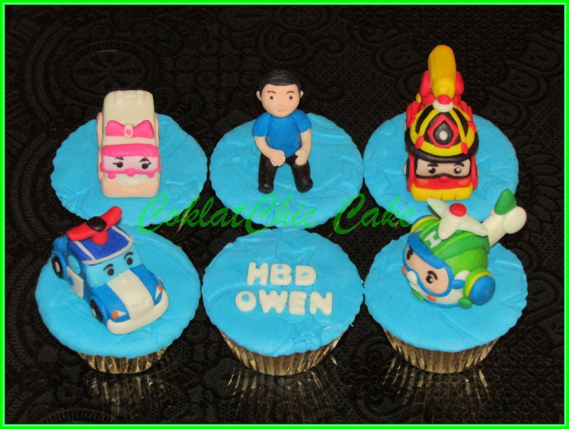Cupcake set Robocar Poli OWEN