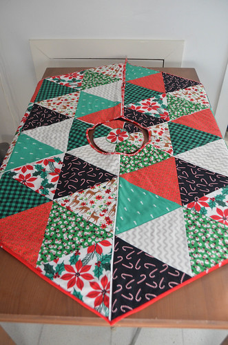 Tree Skirt as table runner - top