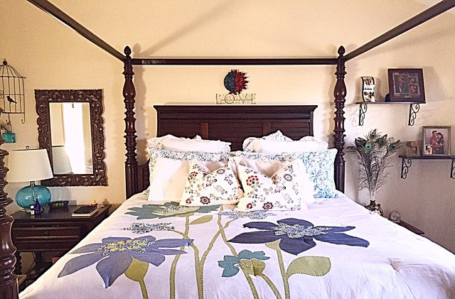 Master bedroom post makeover