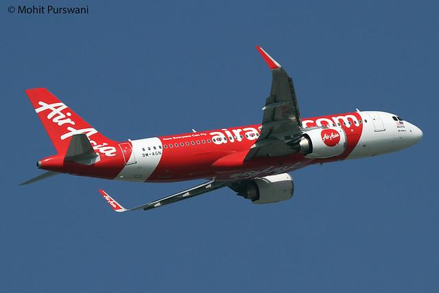 AirAsia (AK/AXM) / A320-251N / 9M-AGN / 12-30-2017 / HKG