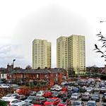 Preston, Lancashire. Avenham flats.