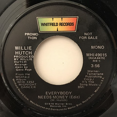 WILLIE HUTCH:EVERYBODY NEEDS MONEY(LABEL SIDE-A)