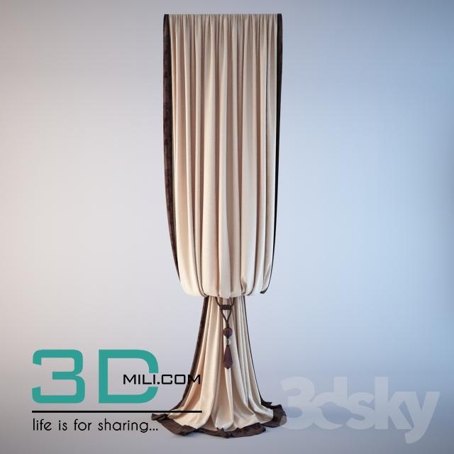 33  Curtain 33 3D Models for Download - 3D Mili - Download