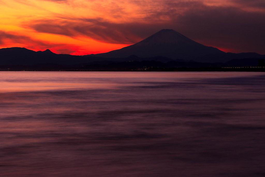静まる富士-2