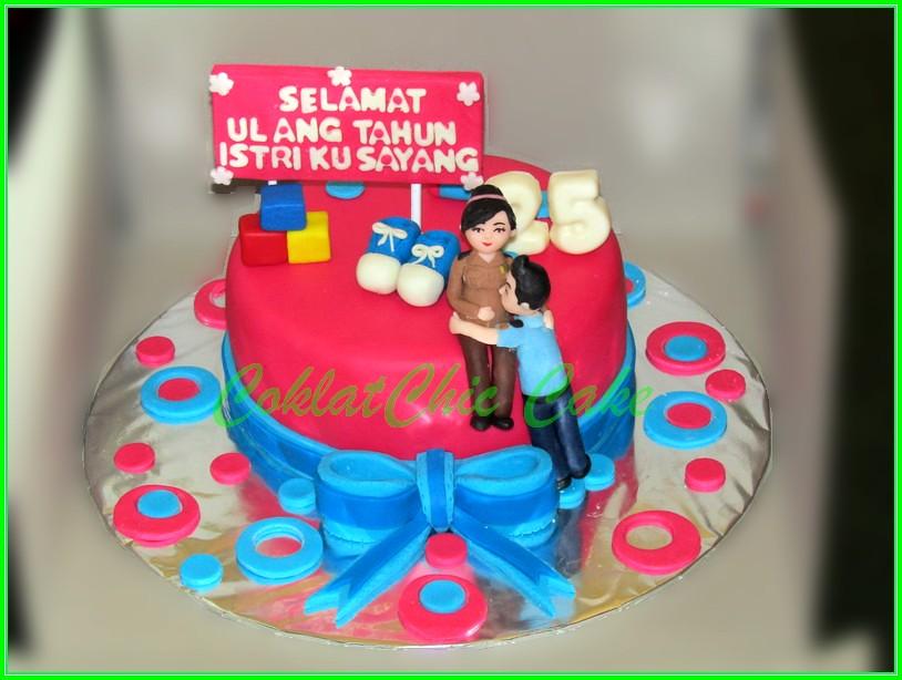 Cake Ibu Polisi Hamil 15 cm