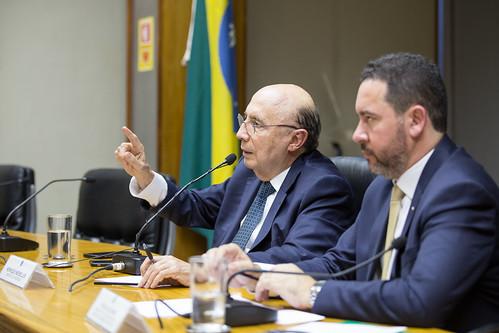 08/01/2018 Entrevista dos ministros da Fazenda, Henrique Meirelles, e do Planejamento, Dyogo Oliveira