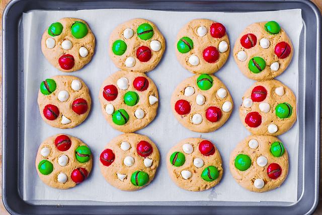 cookies for Santa, Christmas cookies, cookies with m&ms