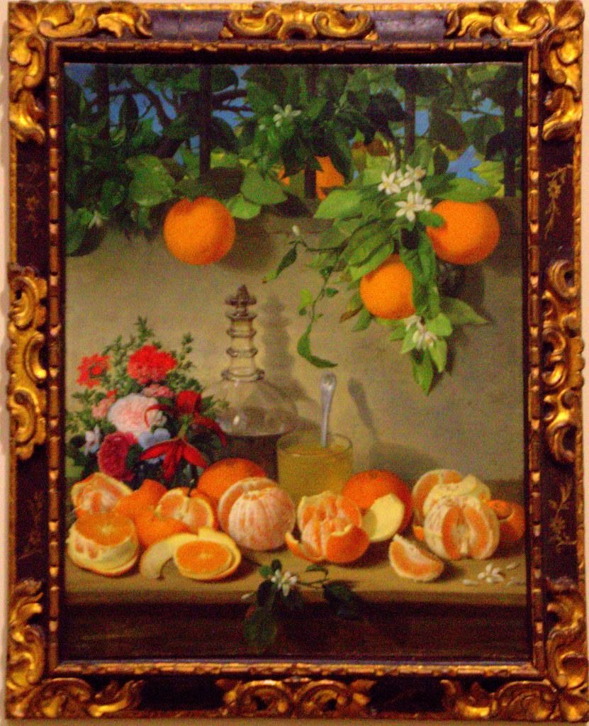 Bodegón: naranjas
