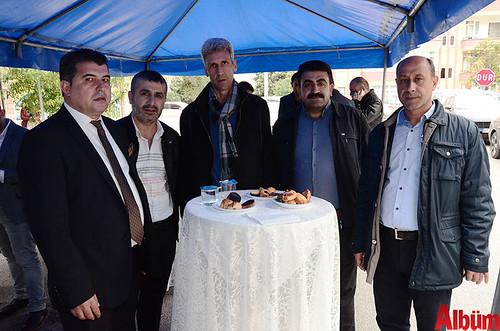 ALDODER Başkanı Seyithan Aladağ, Mehmet Salim Taş, Süleyman Özdemir, Mizbah Özbaş, Bilal Balık