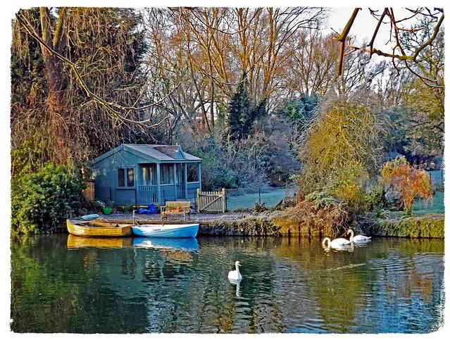 Cambridge Riverside Garden in Winter