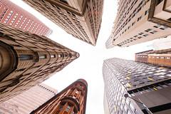 Looking up in Lower Manhattan