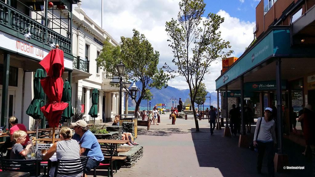 Queenstownin keskustassa, Uusi-Seelanti