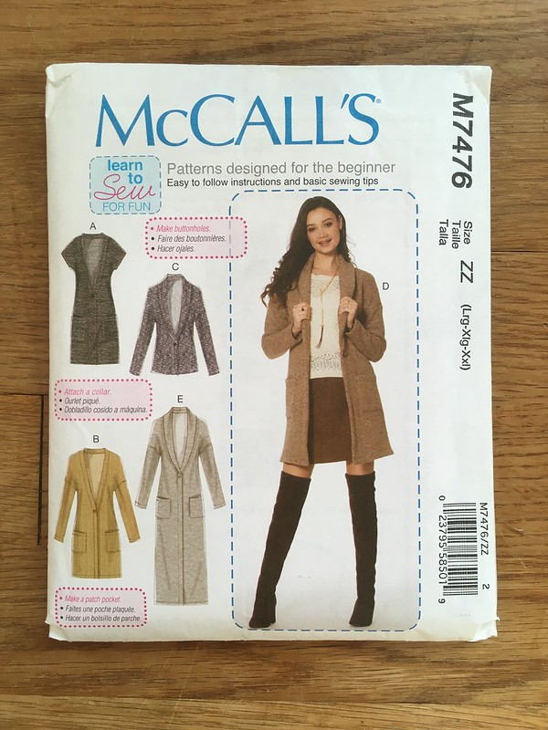 The Long, Long Cardigan:  McCall's 7476