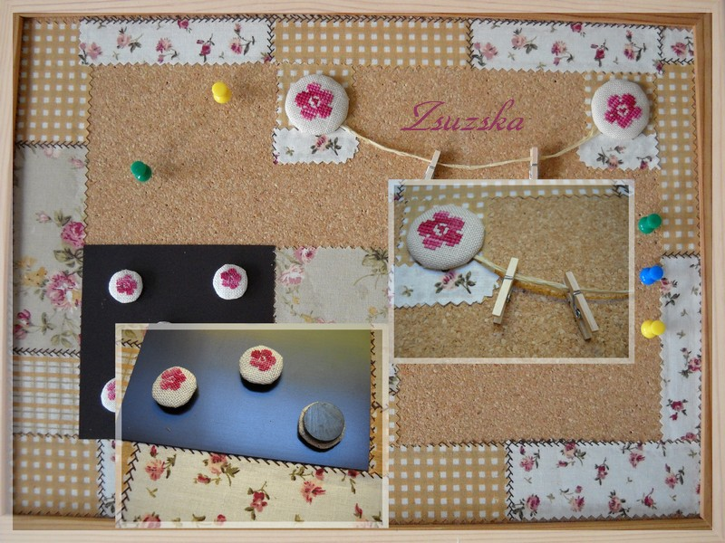 message boards, cross stitch, little flowers, magnets (2)