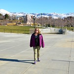 In front of the Utah State Capitol.
