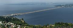 Lacey V. Murrow Memorial Bridge and Homer M. Hadley Memorial Bridge Aerial