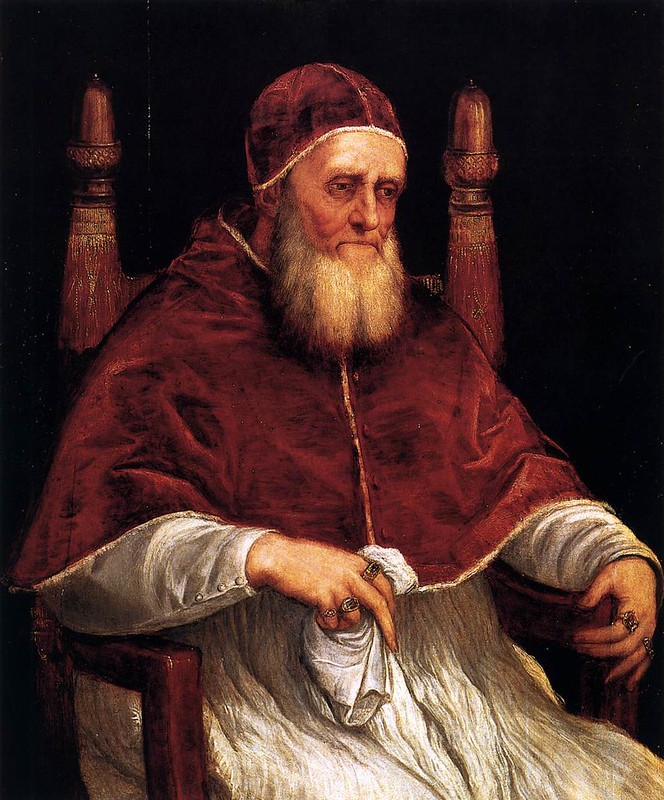 Portrait of Pope Julius II by Titian, after Raphael