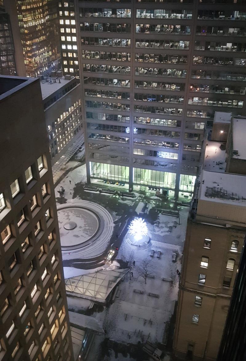 Toronto Financial District snow