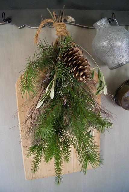 Snijplank groene toef kapstok