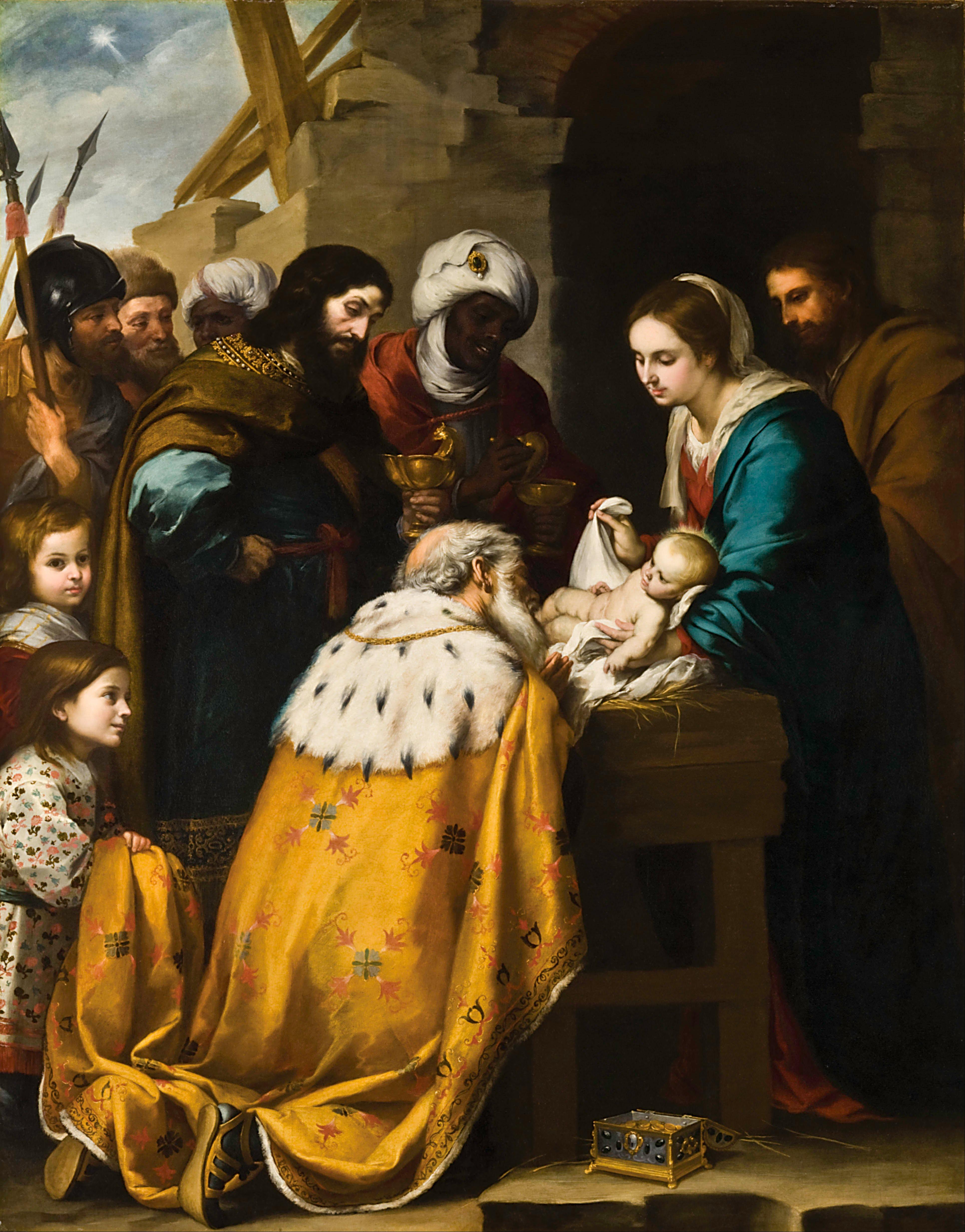Adorazione dei Magi by Bartolomé Esteban Murillo, c. 1655 (Toledo Museum of Art, Ohio