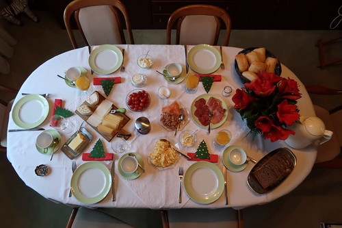 Frühstück am 2. Weihnachtstag (Tischbild)