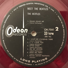 THE BEATLES:MEET THE BEATLES(LABEL SIDE-B)