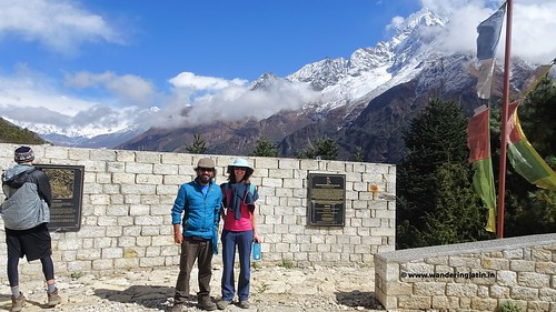 Making friends at Namche