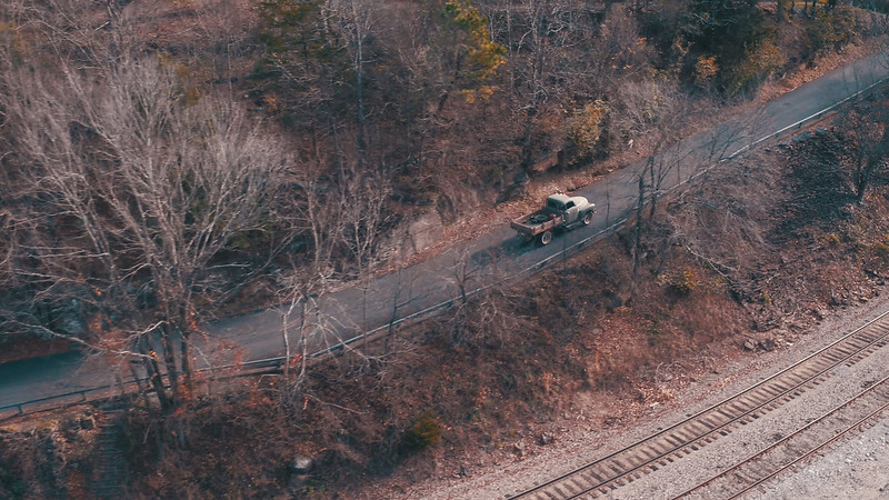 Ozark Drones Truck Driving Aerial