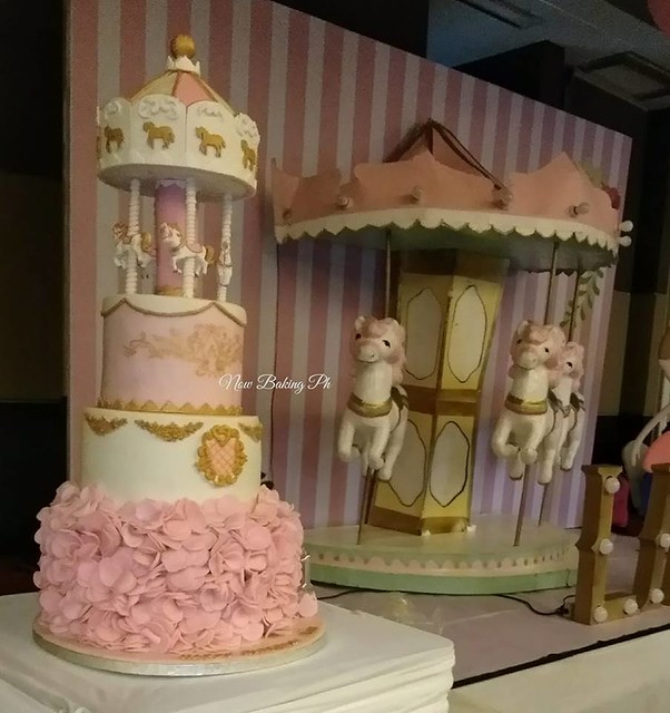 Carousel Theme Cake by Iza Guevarra-Lugtu of Now Baking Ph