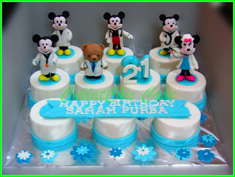 Minicake set Mickey Mouse Doctor SARAH PURBA