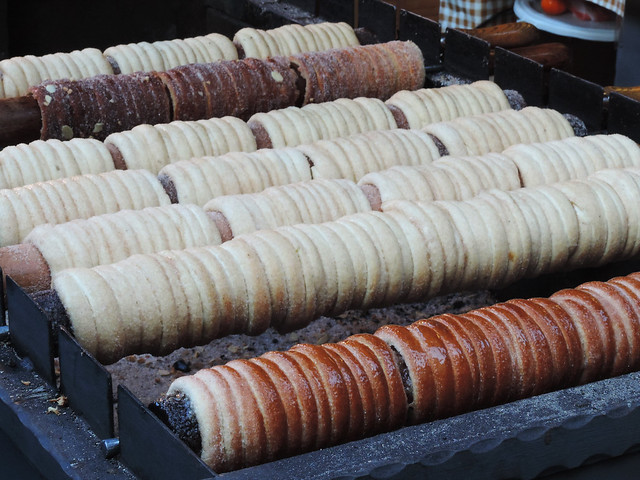 Chimney cakes at Budapest Christmas Markets