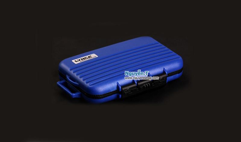 Hộp thẻ nhớ LYNCA KH6 chống nước 4CF +  8SD + 12micro SD_Olympus blue