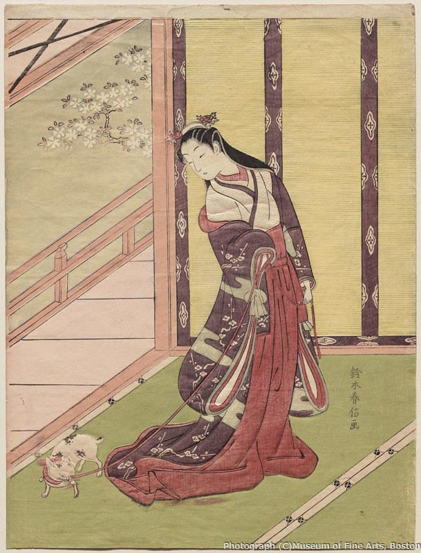 鈴木春信《女三宮と猫》年(1767-68年頃) William Sturgis Bigelow Collection, 11.19508