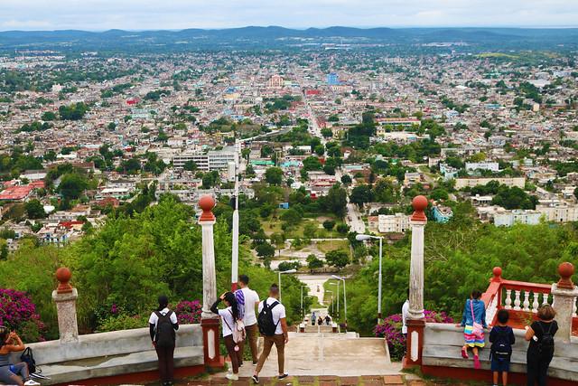Cuba holguin city steps