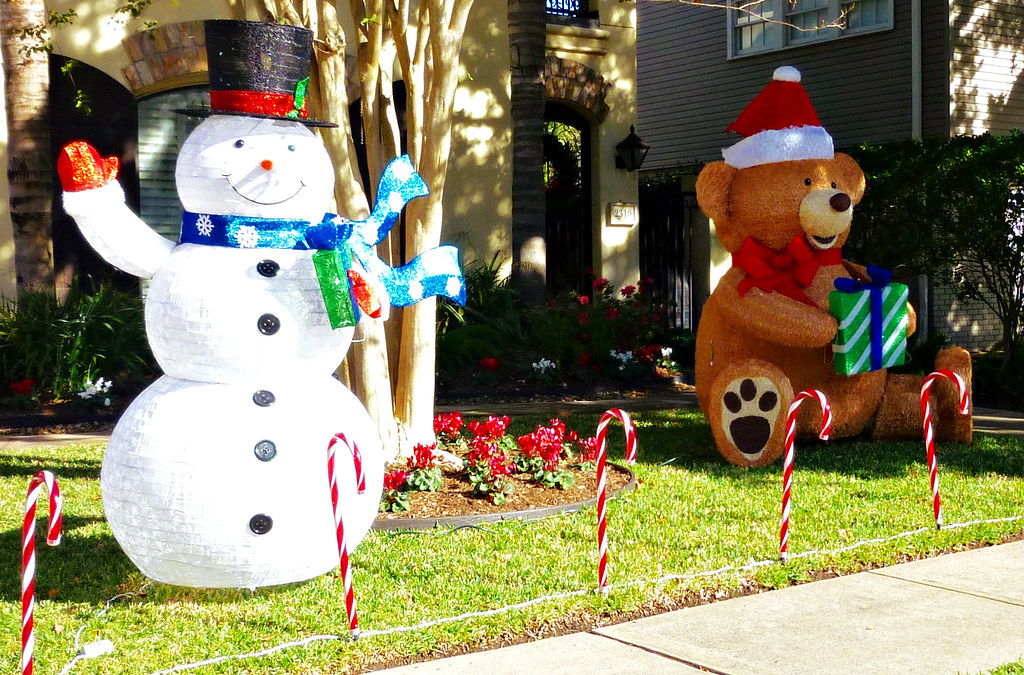Snowman and Teddy Bear
