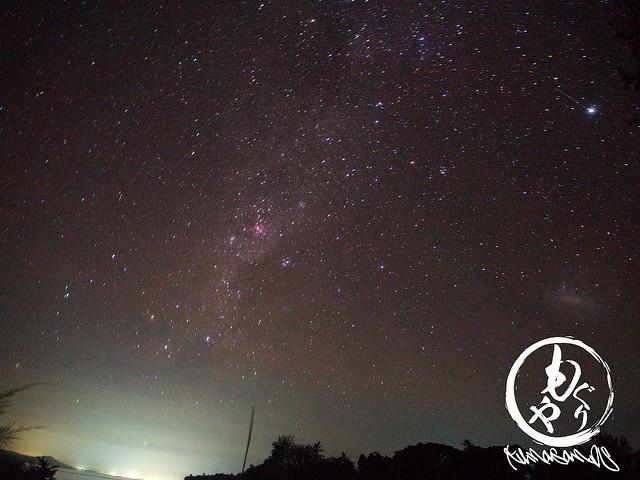 夜は曇ることが多かったですが、晴れた時はこんな景色が見れたらしいw