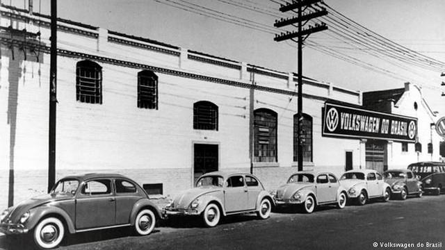 Fábrica da Volkswagen em São Paulo, em 1953. - Créditos: Volkswagen do Brasil
