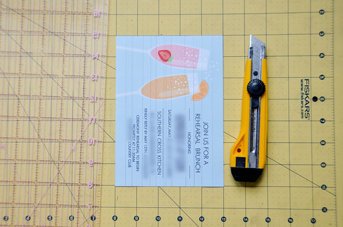1. Cut papers into differently-sized strips, preserving important words.