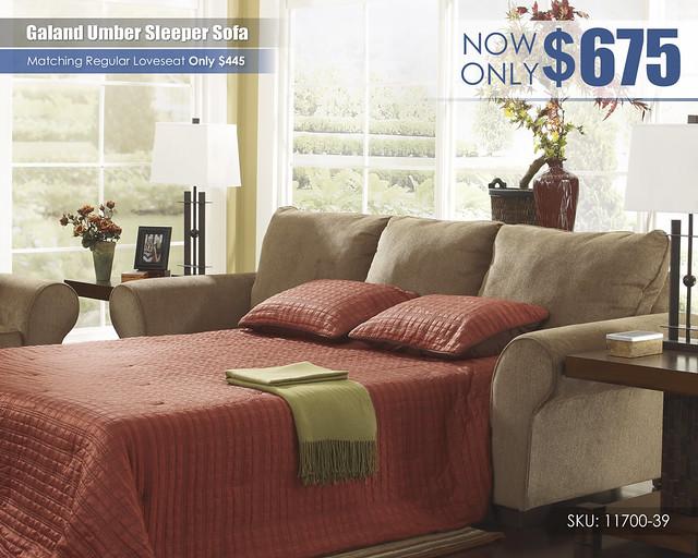 Galand Umber Sleeper Sofa_11700-39