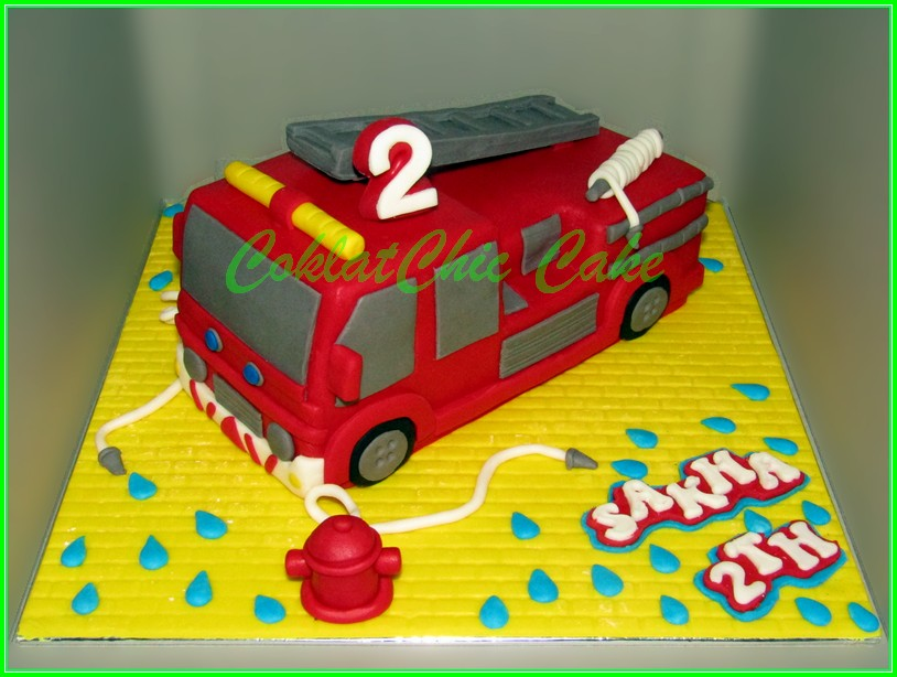 Cake Firetruck SAKHA 30cm