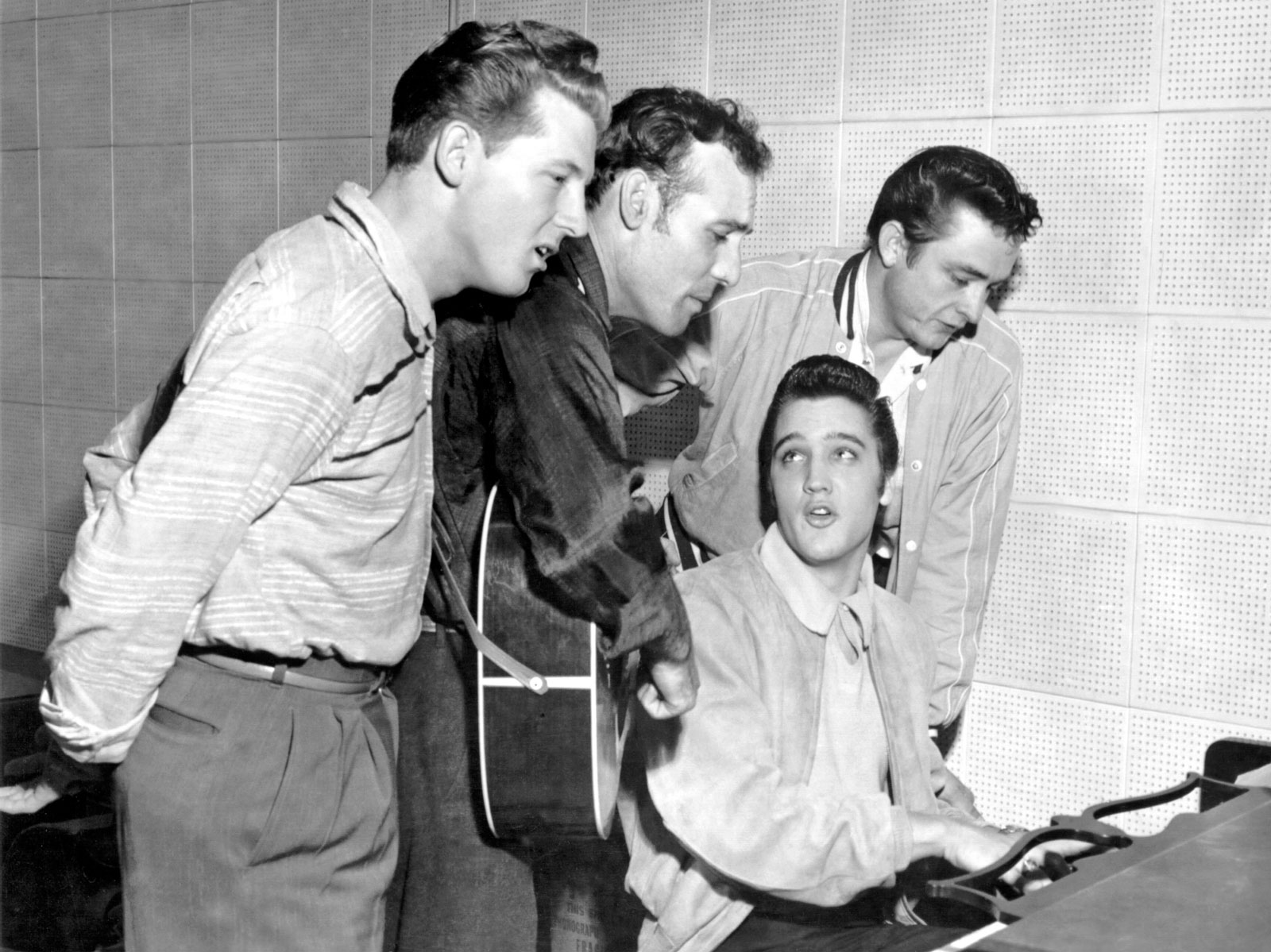 The Million Dollar Quartet at Sun Studios on December 4, 1956.