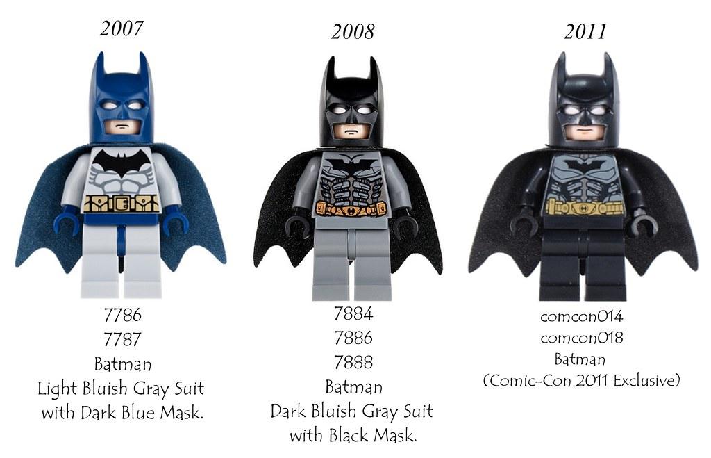 GENUINE Lego Dc Super Heroes Type 1 Cowl Black Suit BATMAN Minifigure 6864 6863