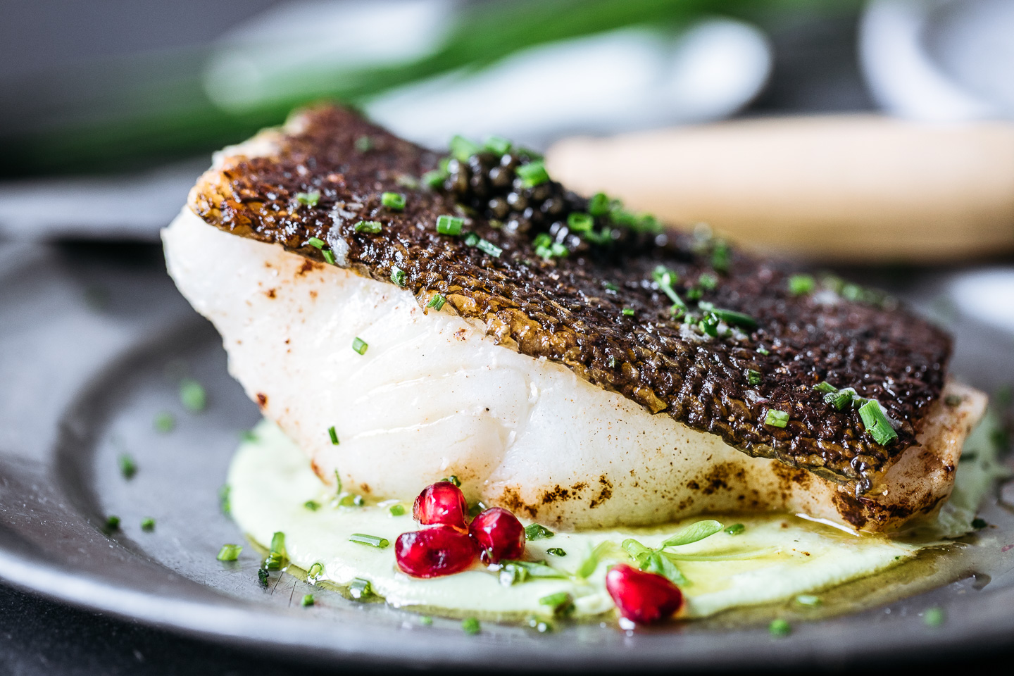 Pan-Roasted Sea Bass