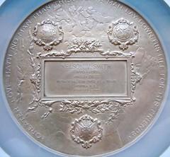 1906 Silver Carnegie Hero medal reverse