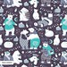 """My Spoonflower entry: """"Arctic bear pajamas party"""". by Selma CC"""